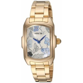 【当店1年保証】インヴィクタInvicta Women's Lupah Quartz Watch with Stainless-Steel Strap, Gold,