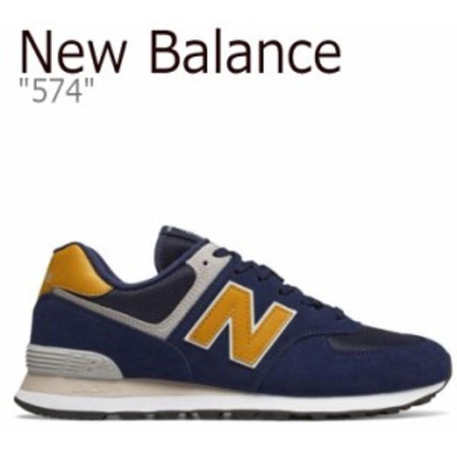 a069cc3c93cf8 ニューバランス 574 スニーカー NEW BALANCE new balance 574 ニューバランス574 NAVY ネイビー YELLOW  イエロー ML574SMB シューズ