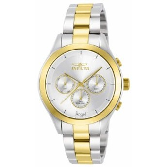 【当店1年保証】インヴィクタInvicta Women's Angel Quartz Watch with Two-Tone-Stainless-Steel Str