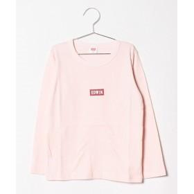 【58%OFF】 エドウィン ベーシック ロゴTシャツ レディース ピンク 150 【EDWIN】 【セール開催中】