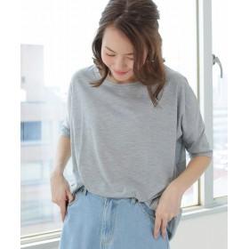 ソーシャルガール ドルマン5分袖BIGTシャツチュニック レディース ライトグレー S 【SocialGIRL】
