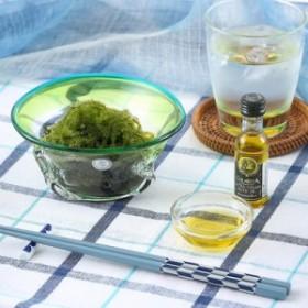 父の日 沖縄の太陽と海を器と共に感じて食す。 「ぷちぷち海ぶどう」を琉球ガラスで食す贈り物