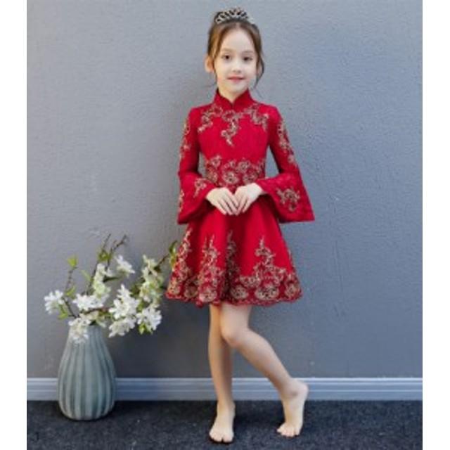 145720b12ba4a 中国式 女の子 礼服 誕生日 ピアノ発表会 衣装 ドレス ピアノ 発表会 ドレス 子供
