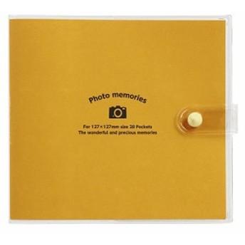 ナカバヤシ アカ-PV127-201-1 カバーポケットアルバム ましかく オレンジ