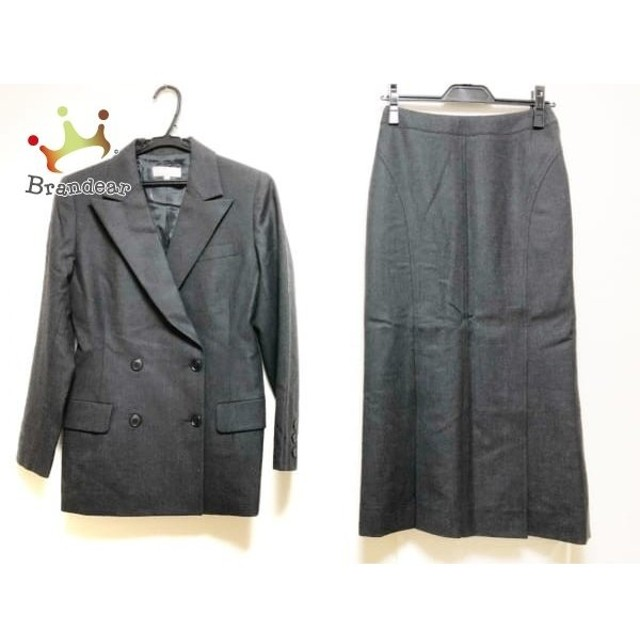 38859558ed ヨシエイナバ YOSHIE INABA スカートスーツ サイズ2 M レディース ダークグレー 肩パッド スペシャル特価 20190510