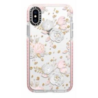 Casetify CTF-4472476-7011802 Impact Case Blush PeoniesWFRS No.4472476/Pink Bumper 〔iPhone XS/X用〕