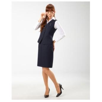 【事務服。ベストスーツ】2点セット(ベスト+スカート)(温湿度調整裏地付)(丈58cm) women's suits