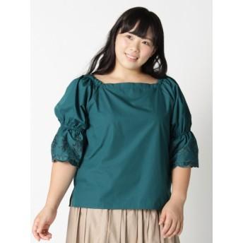 【大きいサイズレディース】【LL-6L】(大きいサイズ)スカラ刺繍プルオーバー★ トップス プルオーバー
