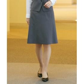 【事務服。ベストスーツ】洗えるたてよこストレッチセミフレアスカート(リスピィシリーズ)(上下別売り) (大きいサイズレディース)事務服,women's suits ,plus size