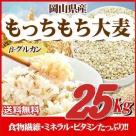 もっちもち大麦 25kg (5kg×5袋) 令和元年岡山県産 北海道沖縄の方別途756円送料かかります
