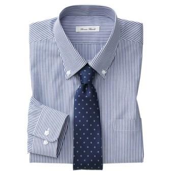 抗菌防臭。形態安定長袖ワイシャツ(ボタンダウン)(標準シルエット) (ワイシャツ)Shirts, テレワーク, 在宅, リモート