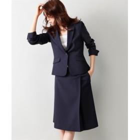 洗えるラップ風セミフレアスカートスーツ(スカートポケット付) (大きいサイズレディース)スーツ,women's suits ,plus size