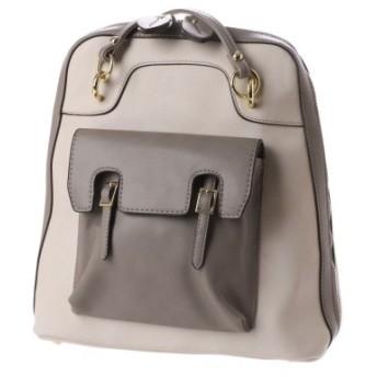 【大きいサイズレディース】色展開豊富な2WAY合皮リュックサック(ミグアシャ)【年間定番】 バッグ・財布・小物入れ リュック