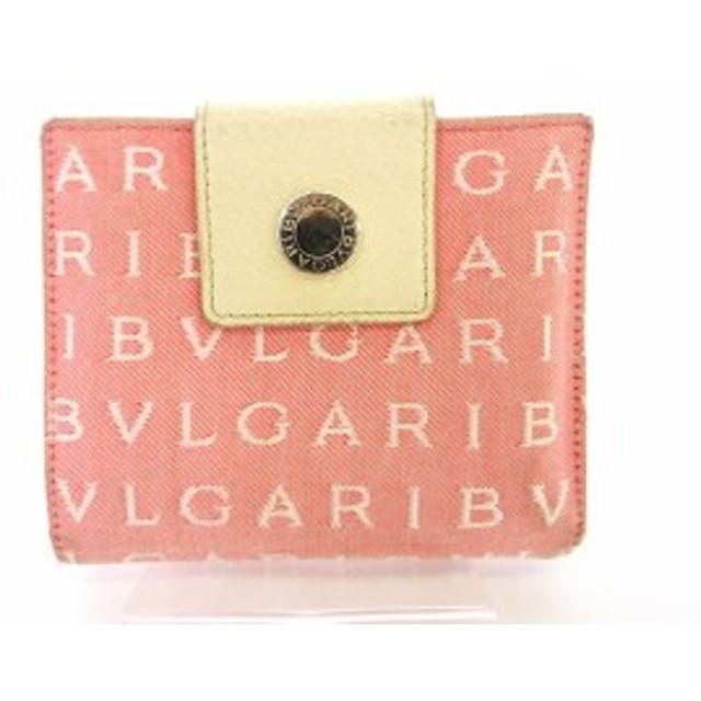 e1f180d2bcef ブルガリ BVLGARI ロゴマニア 財布 二つ折り ピンク aan レディース ベクトル【中古】