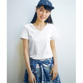 トールサイズ 綿100%半袖VネックTシャツ 【高身長・長身】Tシャツ・カットソー