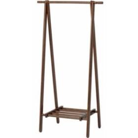 ハンガーラック 低い コートハンガー 木製 ブラウン 茶色 ( パイプハンガー ポールハンガー 帽子掛け 収納 衣類収納 整理 )