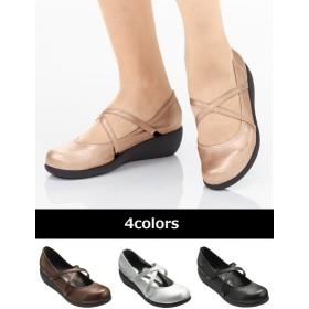 【大きいサイズレディース】リゲッタスマイル ミドルウェッジパンプス通気性プラス(ゆったりワイズ) シューズ(靴) パンプス