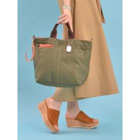【大きいサイズレディース】色展開豊富な2WAY軽量ナイロントートバッグ(リコリス)【A4対応】【年間定番】 バッグ・財布・小物入れ トートバッグ