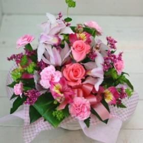 【送別の花 お祝い 94】父の日 ギフト おまかせ!ピンク系フラワーアレンジメント 花ギフト送別の花祝い、