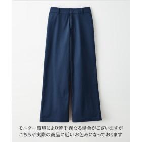 吸汗速乾ワイドパンツ (レディースパンツ),pants