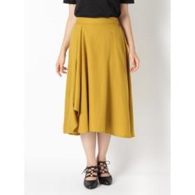 【大きいサイズレディース】【秋冬まとめ買いキャンペーン】【LL-4L】イレギュラーヘムスカート<2点購入で10%OFF、3点以上で15%OFF> スカート フレアスカート