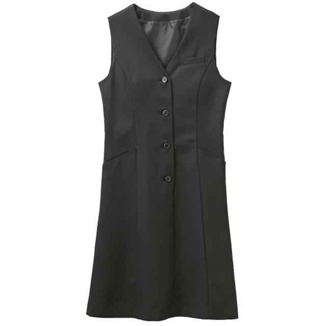 【事務服。ベストスーツ】洗える防汚加工ワンピース(選べる2レングス) women's suits
