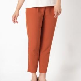 【大きいサイズレディース】【L-5L】美シルエットタックパンツ パンツ タックパンツ
