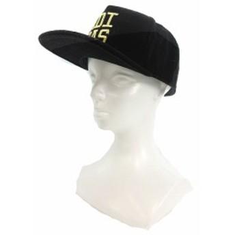 【中古】アディダス adidas 帽子 キャップ 野球帽 刺繍 ウール 58 黒 ブラック /TM1 メンズ