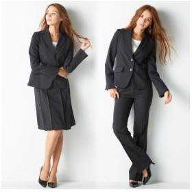 3点セットスーツ(ジャケット+パンツ+スカート)(選べる2レングス) 【レディーススーツ】通勤・社会人・リクルートスーツ,women's suits