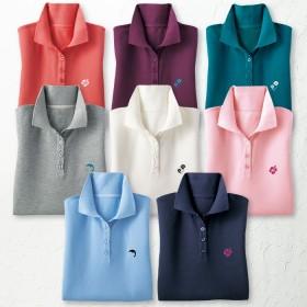 ベルーナ UV加工かのこポロシャツ ネイビー LL レディース