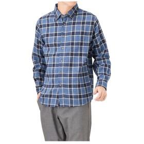 【24%OFF】 マックハウス Navy フランネルチェックボタンダウンシャツ NM8177 04 メンズ DPブルー L 【MAC HOUSE】 【セール開催中】