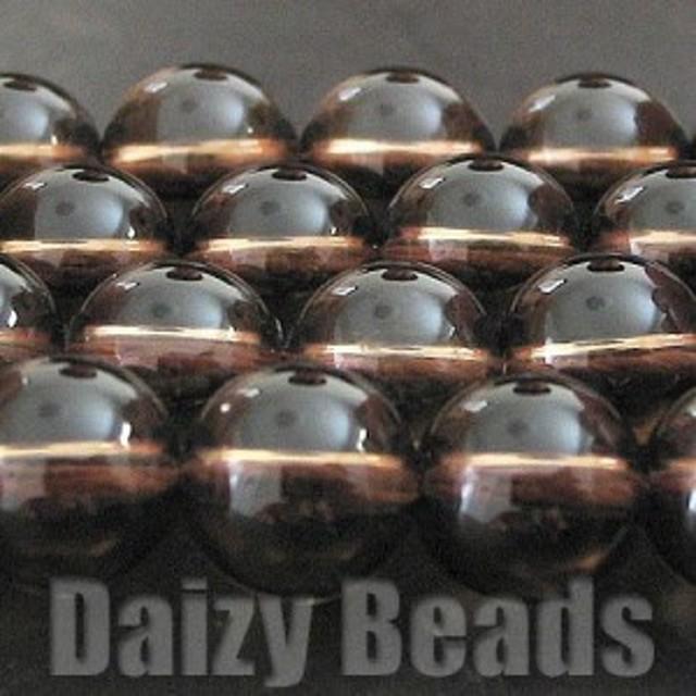 天然石 パワーストーン ビーズ 「スモーキークオーツ(天然/加熱)」 丸玉 6mm 1連(約38-40cm)