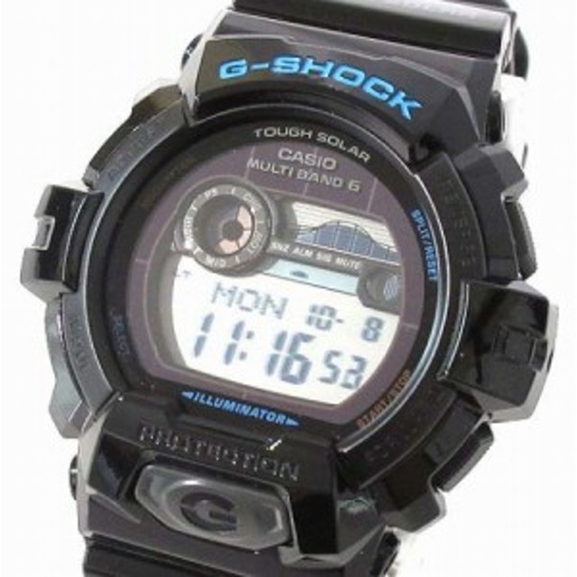 【中古】カシオジーショック CASIO G-SHOCK 美品 腕時計 G-LIDE Gライド GWX-8900-1JF 電波 ソーラー ブラック 箱付き メンズ