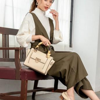 【fifth/フィフス】シャルマン スカーフ付2wayハンドバッグ