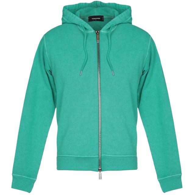 《セール開催中》DSQUARED2 メンズ スウェットシャツ グリーン S コットン 100% / ポリウレタン
