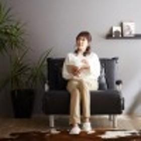 コンパクトになる合皮のソファーベッド