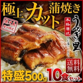 鹿児島県産うなぎ 極上カット蒲焼き 特盛500g 50g x 10食セット 食べきりサイズ 送料無料