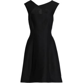 《セール開催中》HALSTON レディース ミニワンピース&ドレス ブラック 4 コットン 81% / シルク 19%
