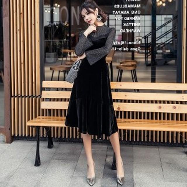 パーティードレス 韓国ワンピース お嬢様 セクシー 40代 30代 50代 20代 お呼ばれ デート 結婚式