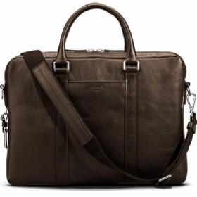 3aee4da5237d パソコンケース パソコンバッグ レディース【SHINOLA Signature Leather Computer Briefcase】Deep  Brown