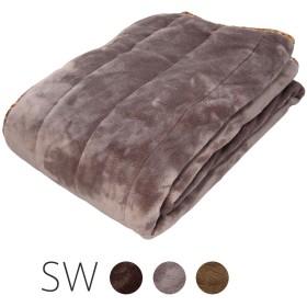 北欧柄 敷きパッド 高密度フランネル素材 アルミ不織布の保温効果 セミダブル