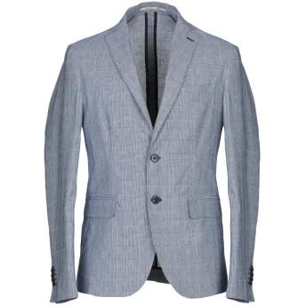 《セール開催中》EXIBIT メンズ テーラードジャケット ブルー 48 コットン 75% / 麻 25%