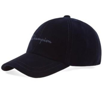 チャンピオン 帽子 ハット キャップ メンズ【Champion Reverse Weave Script Logo Velour Baseball Cap】Navy