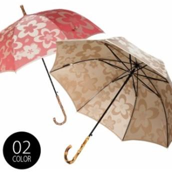 槙田商店 Kirie 長傘 サクラ(傘 雨傘 日傘 晴雨兼用傘 おしゃれ レディース 8本骨 60cm)【S】