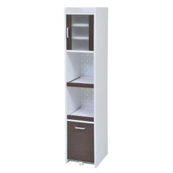 食器棚 おしゃれ 北欧 激安 キッチン 収納 棚 ラック 木製 キッチンボード カップボード ハイタイプ 大容量 約 幅30 スリム 隙間収納 白