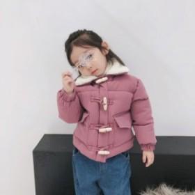 襟元あったかコート ショートコート 裏起毛 ボアコート ショートアウター ダッフルコート 秋冬 女の子 女児キッズ 子供服