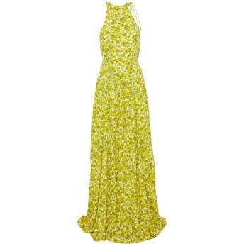 《セール開催中》LELA ROSE レディース ロングワンピース&ドレス イエロー 2 レーヨン 100%