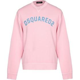 《期間限定セール開催中!》DSQUARED2 メンズ スウェットシャツ ピンク S コットン 100%