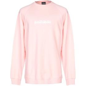 《セール開催中》NAPAPIJRI メンズ スウェットシャツ ピンク XS コットン 100%