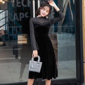 韓国ワンピース パーティードレス お嬢様 セクシー 結婚式 デート お呼ばれ 40 代 30代 50代 20代
